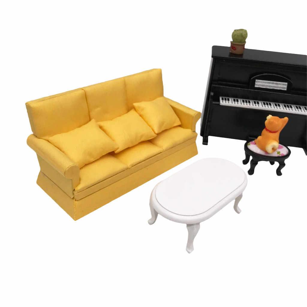 1:12 인형 집 미니어처 가구 소파 베개 거실 어린이 놀이 장난감 인형 집 침실 액세서리 미니 장식 선물 M140 #