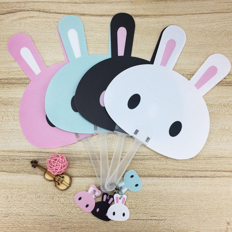 P105 CHILDREN'S Cartoon Plastic PP Fan Mini Small Fan Qing Liang Shan Hand Fan In Long Handle Hand-Held Fan Summer