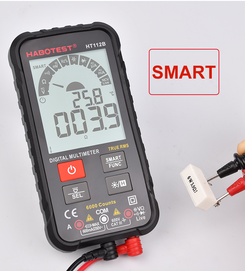 HABOTEST New Generation 600V Smart Intelligent Phone Digital Multimeter Ohm Capacitance Hz AC DC NCV Advance Multimetro Tester
