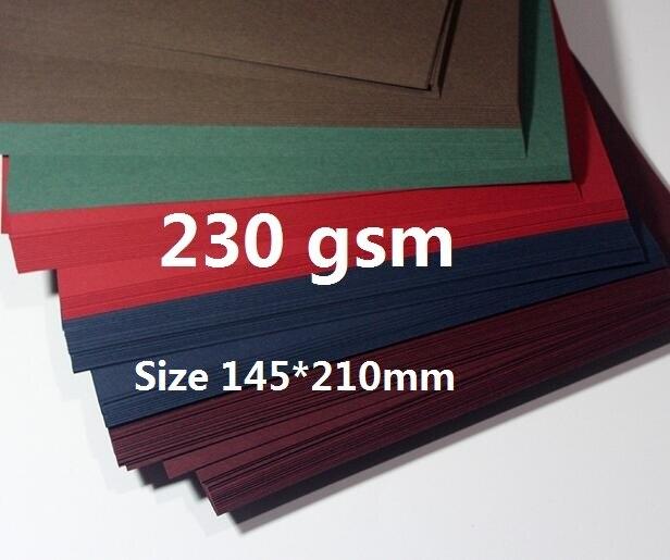 230gsm 50pcs Matte Plain Color Cardstock Thick Dark Paper For Scrapbooking Craft Card Making 145*210mm