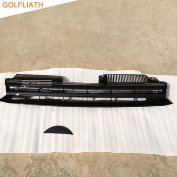 GOLFLIATH For Volkswagen Golf 6 MK6 GTI R20 ABS Car Styling Exterior Parts Racing Grills front center grille No VW Logo