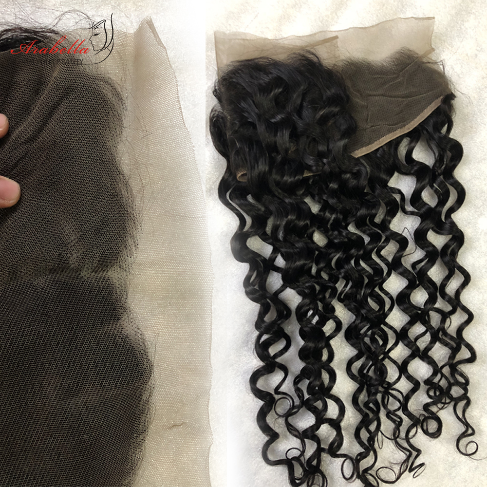 13x4 Water Wave Lace Frontal Ear To Ear Natural Color  Arabella Pre Plucked Bleached Knots Lace Frontal Closure 6