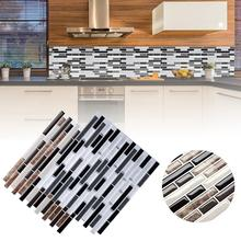 3D 28,5 см стена наклейки плитка кирпич полоса обои наклейка самоклеющаяся клей кухня ванная комната декор стена наклейка для кухни