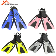 Diving Swimming Fins Adjustable Adult Short Scuba Snorkeling Shoes Swim Fins Foot Flipper Diving Flippers with Heel Boots Shoes fste yon sub adult snorkeling fins swim training adjustable underwater foot diving fins professional diver gear water sports f