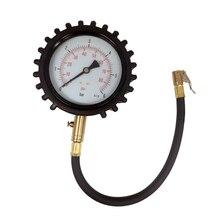 공기 척 압력 테스트에 클립과 4 인치 다이얼 자동차 타이어 압력 게이지