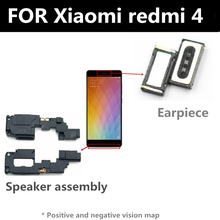 FOR Xiaomi redmi 4  Speaker earpiece FOR phone Repair and Replacement Parts repair parts plastic replacement speaker module for ipod touch 4 black