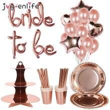 Rosa ouro equipe noiva para ser balões coroa nupcial sash crachá despedida de solteira festa de casamento decoração hen festa acessórios suprimentos