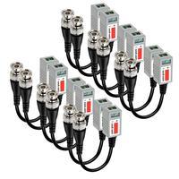 6 pares CCTV BNC transceptor de Video Balun Cable