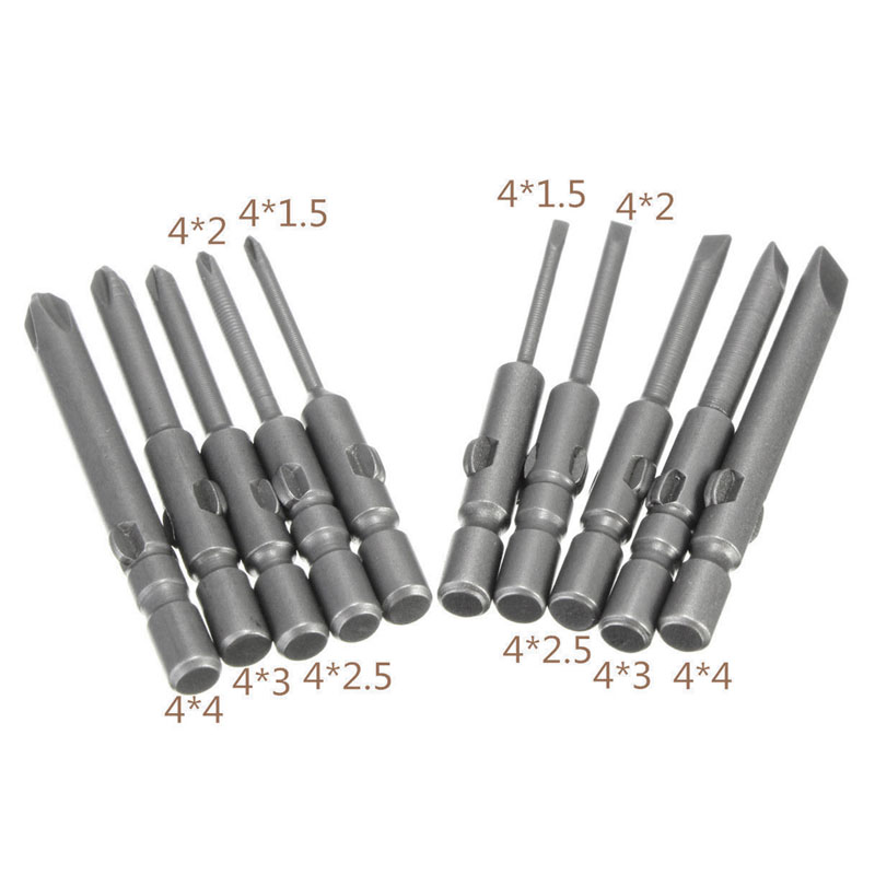10Pcs Magnetic <font><b>Screwdriver</b></font> Bits Kit For DC Powered Electric 40mm <font><b>Screwdriver</b></font> <font><b>800</b></font> image