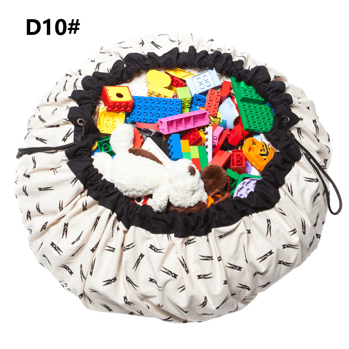 INS Hot Selling Pure Cotton Europe And America Fast Drawstring Closure Toy Storage Pad Baby Crawling Mat Game Blanket