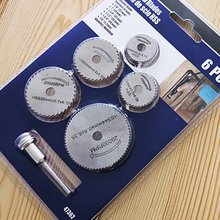цена на Mini Circular Saw Blade Set 6pcs multitool blades wood drive HSS Cutting Disc Rotary Tool Accessories Compatialble Rotating