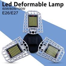 Светодиодный свет гаража УФО лампа 220В Bombillas E27 в деформируемых лампы водонепроницаемый 60Вт 80Вт 100Вт Сид E26 парковка пакгауза освещая 110V