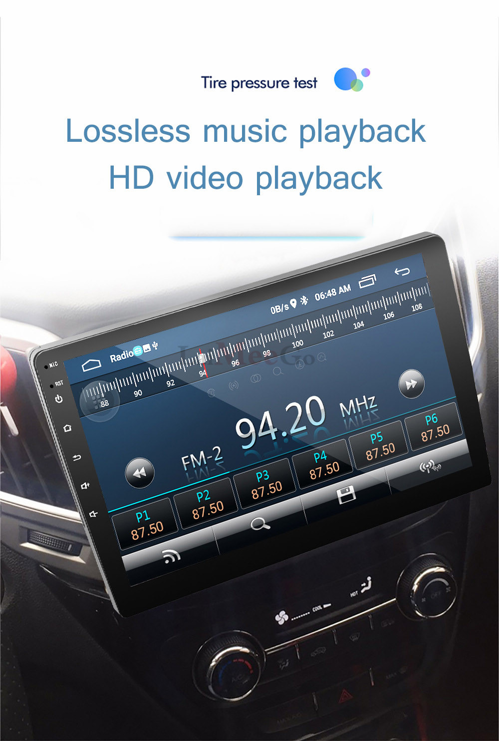 2din Car radio 9 10.1inch Android system Auto stereo 2.5D Capacitive Screen Bluetooth WIFI GPS Quad Core For Universal Car  (5)