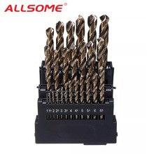 ALLSOME M42 wiertła spiralne HSS zestaw części do metalu 8% wysokiej kobaltu miedzi żelaza aluminium drewna wiertła koronowe ze stali nierdzewnej
