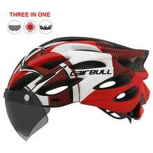 Helmet Mtb Mountain-Bike In-Mold Rear-Light Outdoor-Road Riding Visor--Tt-Lens Sports