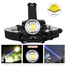 xhp70.2 powerful led headlamp xhp70 18650 rechargeable usb head lamp xhp50.2 led headlight waterproof power bank head torch