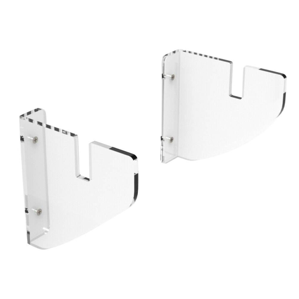 2pcs Skateboard Rack Display Stand Home Mounts Deck Longboard Clear Acrylic Storage Holder Wall Hanging For Adults Kids Floating