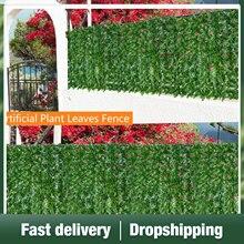 Künstliche Blatt Privatsphäre Zaun Rolle UV Verblassen Geschützt Verrottungsfest Kunststoff Sicherungs Wand Landschaftsbau Outdoor Garten Dekoration