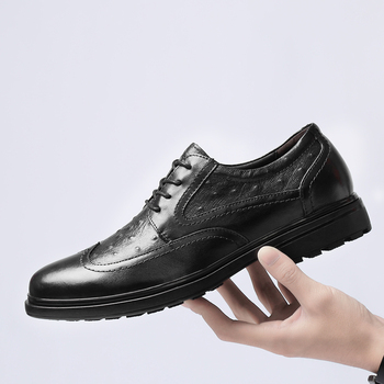 Mens Shoes Genuine Leather Top Quality Spring Autumn Brand Fashion Wedding Party Men's Shoes Formal Designer Shoes Size 46 47 48