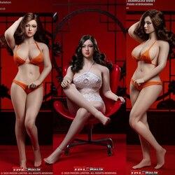 TBLeague 1/6 Plus Größe Mädchen Super-Flexible Nahtlose Körper Figur Große Brust Mit Kopf Sculpt Weiblichen Ganze Set Aktion figuren