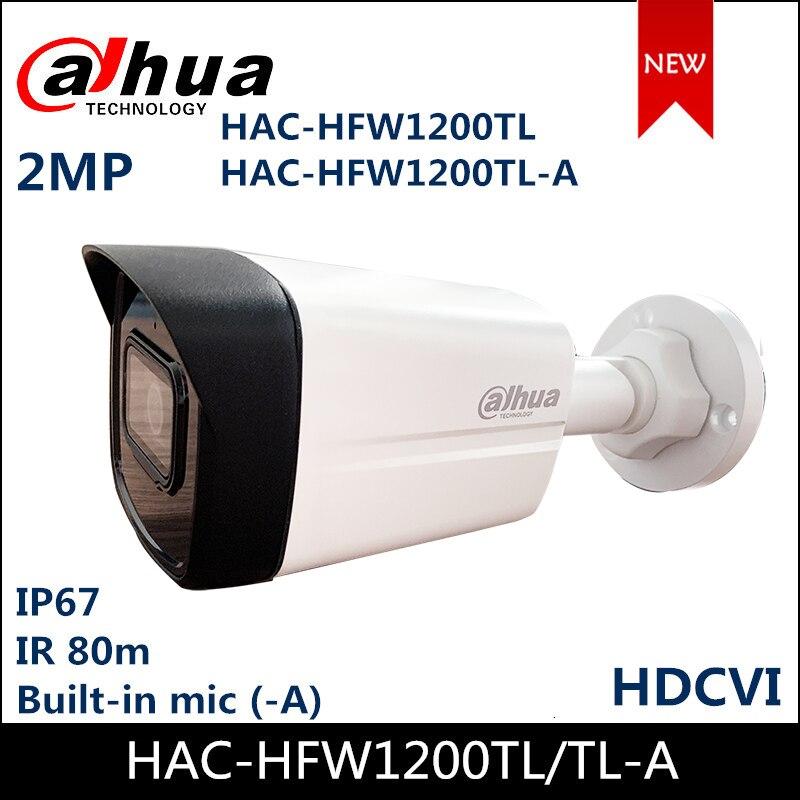 Dahua Security Camera HAC-HFW1200TL IR40mHAC-HFW1200TL-A IR 80m Built-in MIC 2MP HDCVI IR Bullet Camera Waterproof HDCVI Camera