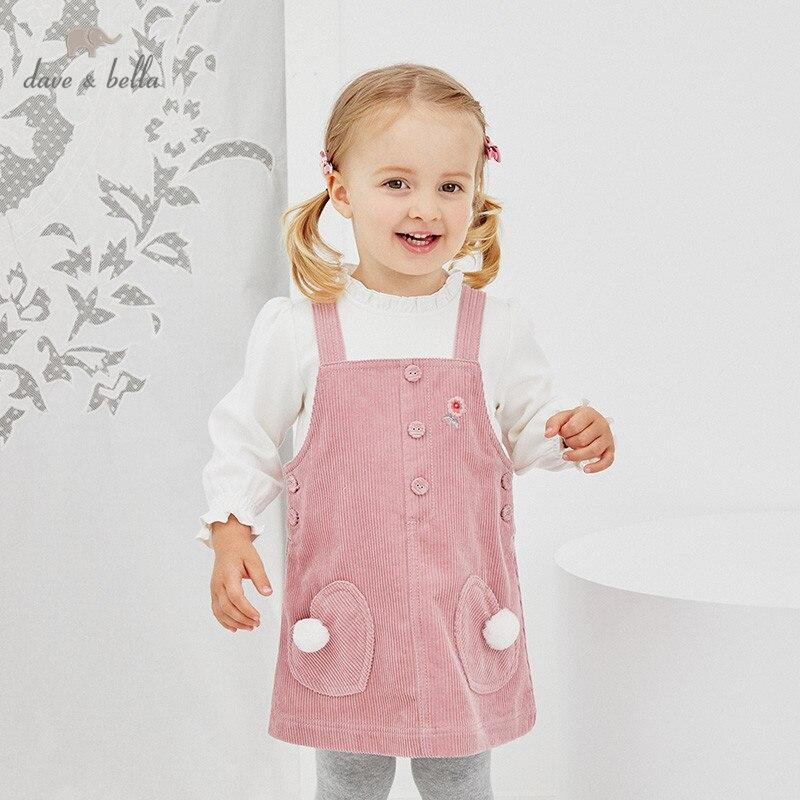 DBJ14539 2 dave bella/осеннее платье принцессы с цветочным принтом и карманами для маленьких девочек; Вечерние платья на подтяжках в стиле Лолиты; Одежда для малышей|Платья| | АлиЭкспресс
