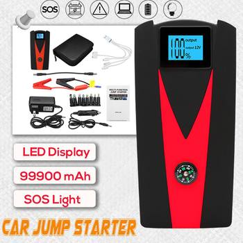 Audew 99900 mAh Portable Car battery Jump Starter w/ LED Display & Flashlight