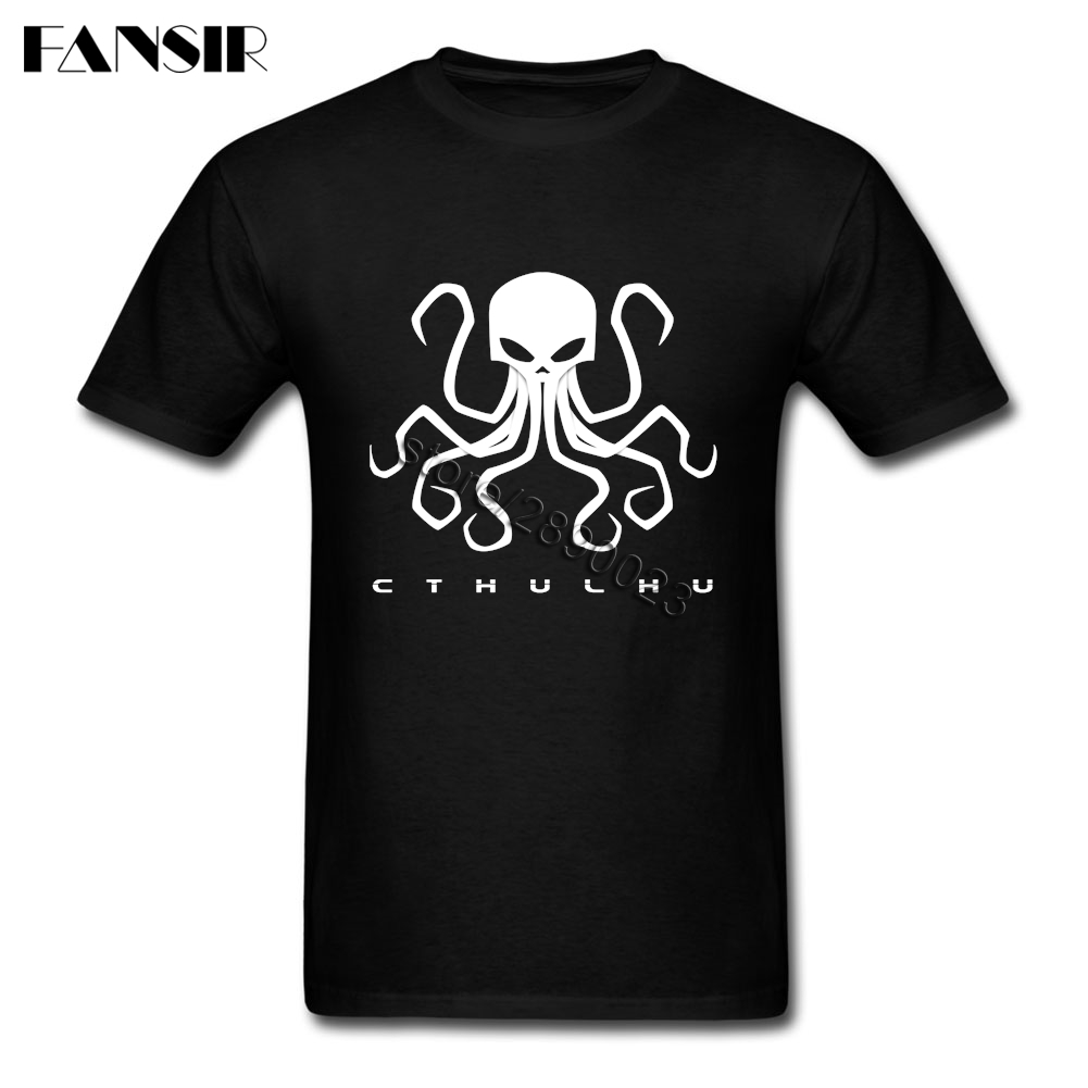 Chtulhu Clothing Summer Men T-Shirts Short Sleeve Cotton Round Neck T Shirt For Adult Tops