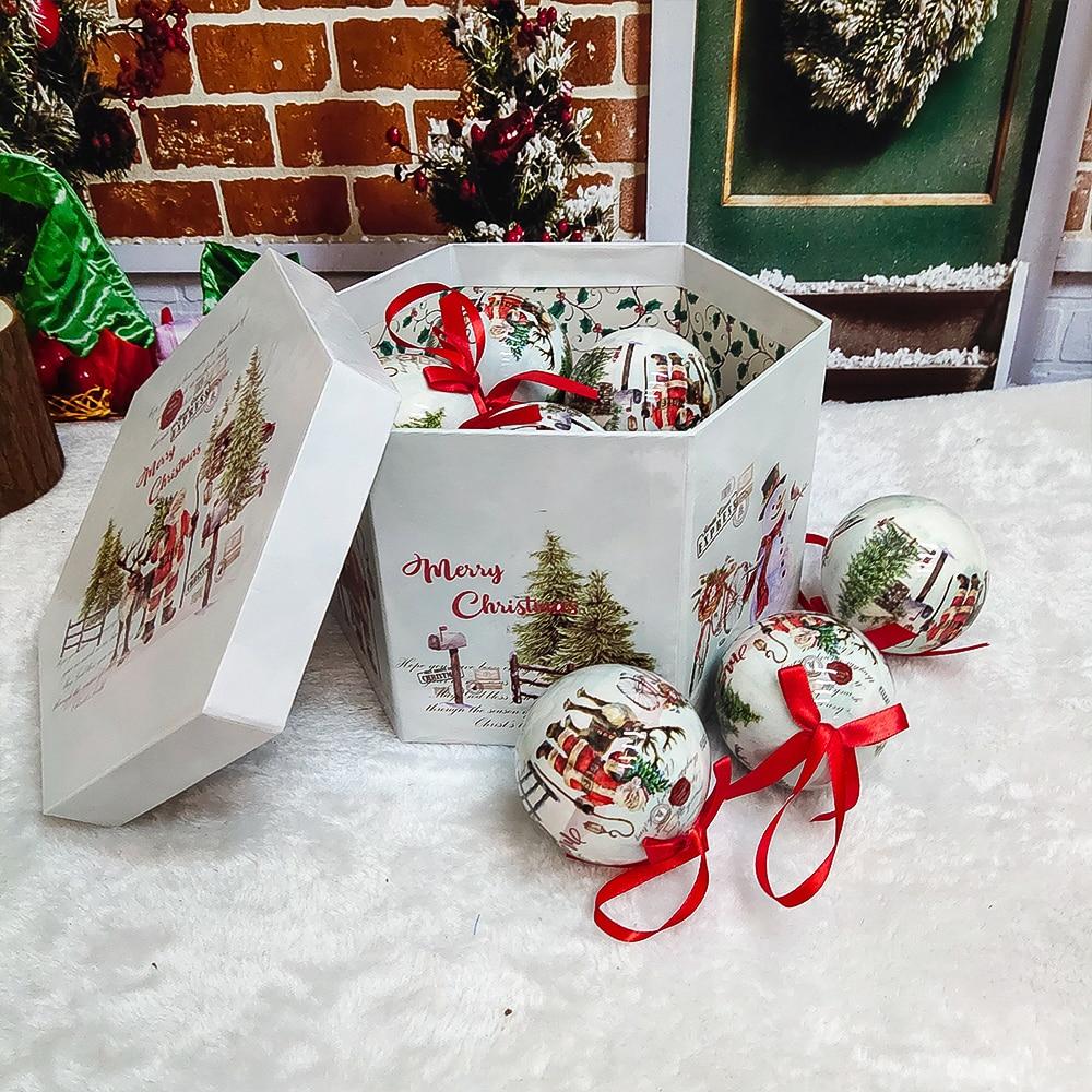 Рождественская елка подвесных шаров для занавесок украшения подарок Новый год с утолщённой меховой шар-безделушка для поделок Xmas вечерние ...