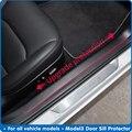 4 предмета в комплекте, для Tesla модель 3 порога протектор Model3 педали гвардии Анти-kick царапин дверь Kick гвардии порог авто аксессуары