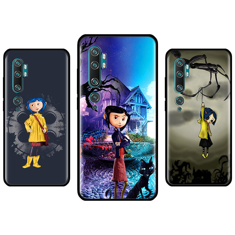Silicone Case For Ximaomi Mi 9 10 Pro 5G 9T CC9 CC9E Note 10 Pro A1 A2 8 Lite Poco X2 F1 Cover Fundas Coraline And The Magic Doo