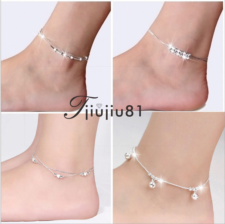 Love Anklet Star Retro Silver-Plated Korean-Style Cute Gourd Star Anklet