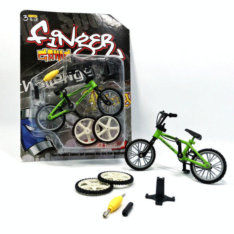 Creative Alloy Mini Finger Bike Bicycle Bmx Kids Toys For Children Boys Finger Scooter Novelty Gag Racing Toy Brinquedos Gifts
