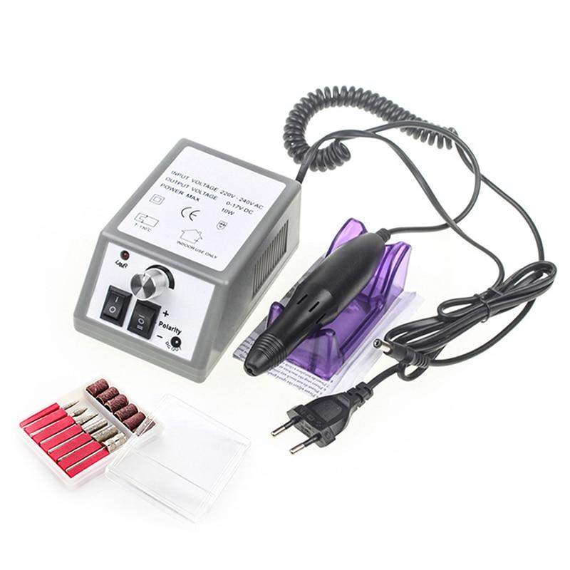 Electric Nail Drill Manicure Set File Grey Nail Pen Machine Set Kit With EU Plug