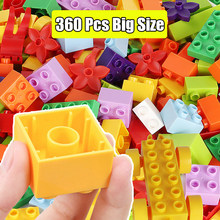 Tamanho grande compatível com blocos de construção adesivos estatueta clássico cidade tijolos consturction brinquedos educativos para crianças
