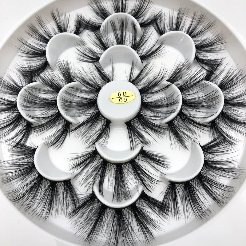 Buzzme 30 Pairs Wholesale 6D faux mink lashes natural long high quality eyelashes silk eyelash - 5