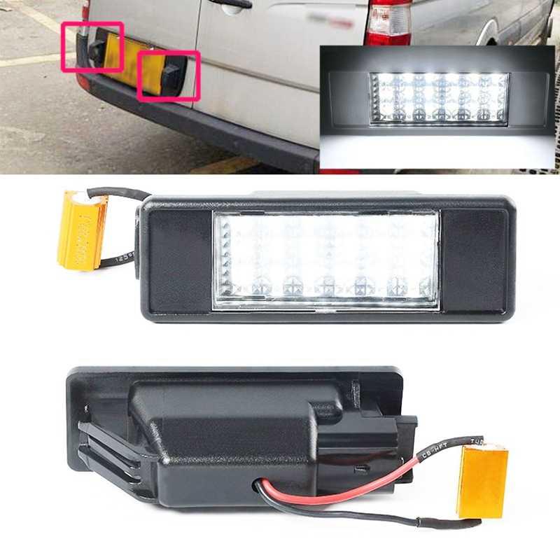 2Pcs Nomor LED Lampu Plat Nomor untuk Mercedes Benz Sprinter (W906) (2006-2016) vito (W639) (2003-2015) Viano (W639) (2003-2015)