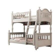 Americano alta e baixa cama de casal cama de crianças adulto criança mãe cama meninos e meninas duas camadas de cama de madeira