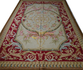 STUNNING PASTEL Camel Beige French Scroll Roses Gorgeous Aubusson Carpet 200x300CM'6.56x9.84' at023gc147aubyg30