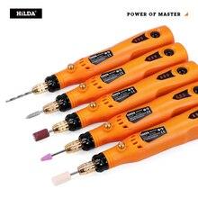 HILDA 3,6 V Mini Bohrer Cordless Dreh werkzeug Mit Schleifen Zubehör Set Multifunktions Mini Gravur Stift Für Dremel werkzeuge
