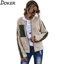 Coat Women Jacket Outwear Teddy Fur Faux-Fur Female Fluffy Autumn Winter Plush Warm Soft