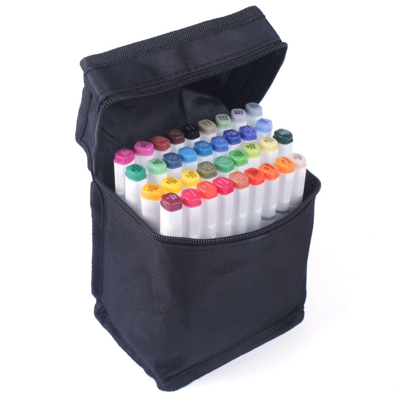 TOUCHNEW 40 цветов маркеры авторучка манга эскизные маркеры двойная кисть авторучка спиртовая войлочная искусство школьные принадлежности Наб...