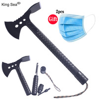 King Sea 2019 New Camping Axe Multi tool Hatchet Survival Kit Tactical Tomahawk Folding Portable Camp Ax with Sheath Hammer|Axe| |  -