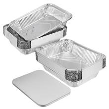 BESTONZON 20 stücke Einweg BBQ Drip Pan Tray mit Deckel Aluminium Folie Zinn Liner für Fett Fangen Pfannen Ersatz Liner trays