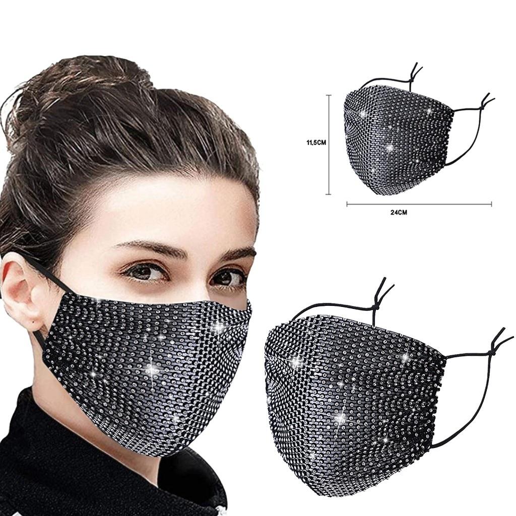 Женская винтажная маска для рта, стразы, маски для лица, популярные вечерние украшения для ночного клуба, вечерние аксессуары для лица с кри...