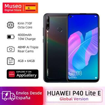 Купить Глобальная версия Huawei P40 Lite E смартфон 4 Гб 64 Гб 6,39 дюйма 48 МП Тройная AI камера разблокировка отпечатков пальцев мобильные телефоны 4000 мАч