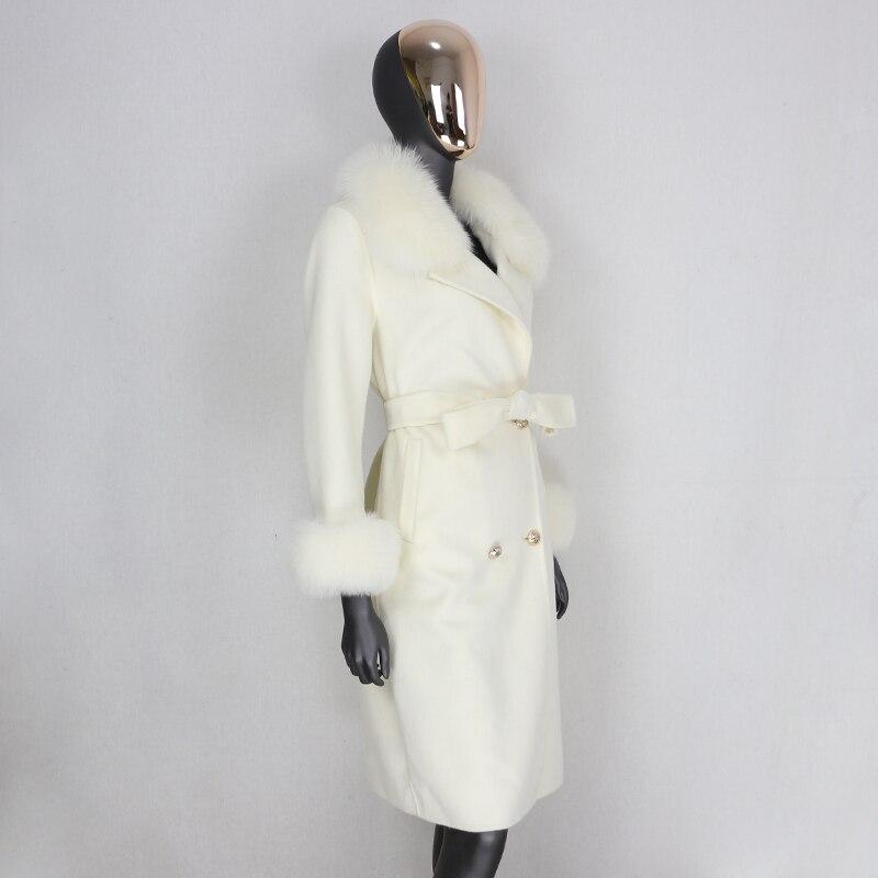 Hd62aa0124675445b9c30df989eb13c42n 2021X-Long Natural Mongolia Sheep Real Fur Coat Autumn Winter Jacket Women Double Breasted Belt Wool Blends Overcoat Streetwea