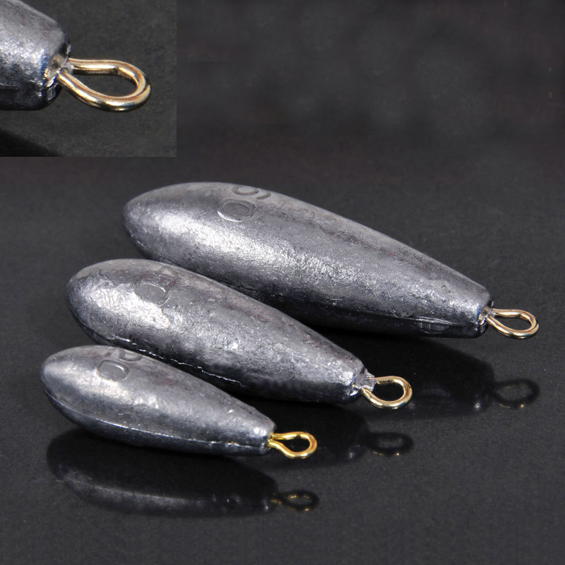 Water Drop Lead  5PCS/Lot 10g/15g/20g/30g/40g/ 50g Water Droplets Lead Weights Fishing Lead Sinkers Fishing Accessories