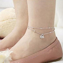 Simple Puppy Ankle Layering Pendant Anklet Beaded Foot Jewelry Summer Beach Anklets On Bracelets For Women Leg Chain WD651