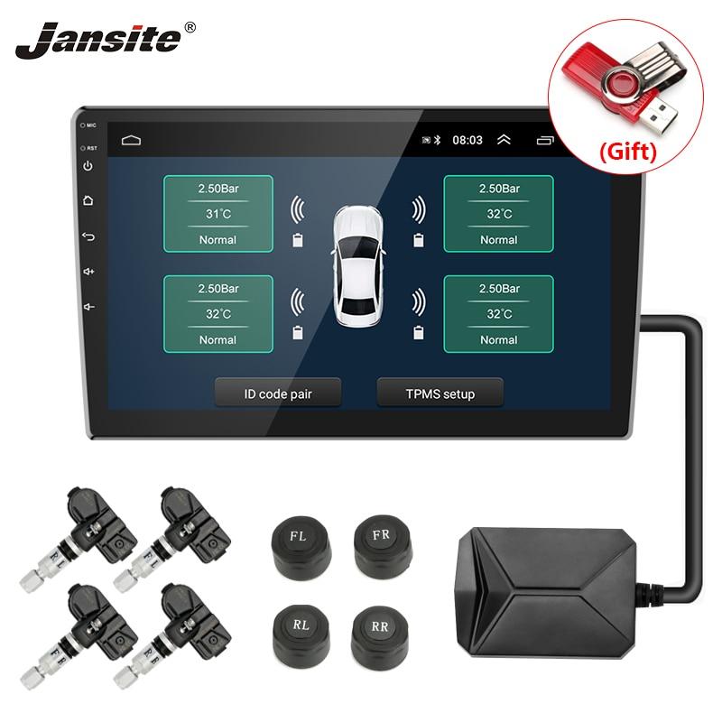 Jansite TPMS автомобильных шин давление сигнализации мониторы системы Солнечный мощность зарядки дисплей умный температура Предупреждение с 4 Д...